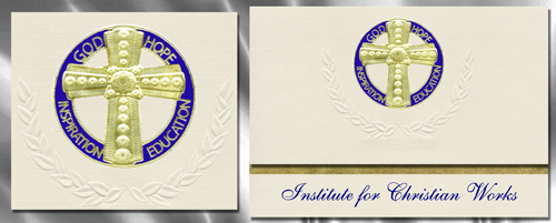 Institute for Christian Works Graduation Announcements