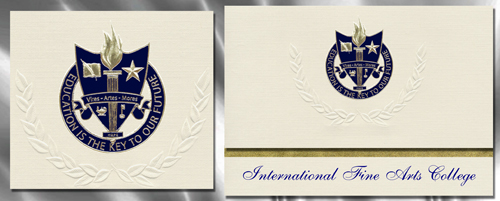 International Fine Arts College Graduation Announcements