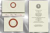 Platinum Style Iowa State University Graduation Announcement