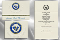 Platinum Style Jackson State University Graduation Announcement