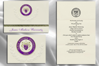 Platinum Style James Madison University Graduation Announcement