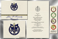 Platinum Style John F. Kennedy University Graduation Announcement