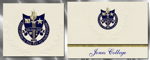 Jones College Graduation Announcements