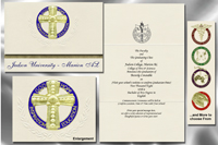 Platinum Style Judson College Graduation Announcement