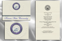 Platinum Style Kansas State University Graduation Announcement