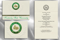 Platinum Style Kentucky State University Graduation Announcement
