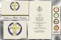Platinum Style Lutheran Bible Institute Graduation Announcement