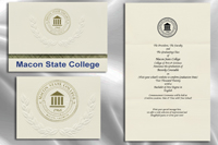 Platinum Style Middle Georgia State College Graduation Announcement