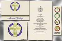 Platinum Style Messiah College Graduation Announcement