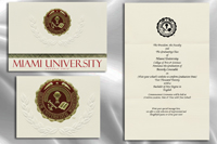 Platinum Style Miami University Graduation Announcement