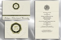 Platinum Style Michigan Technological University Graduation Announcement