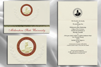 Platinum Style Midwestern State University Graduation Announcement