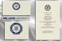 Platinum Style Millikin University Graduation Announcement