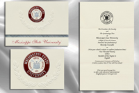 Platinum Style Mississippi State University Graduation Announcement