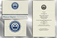 Platinum Style Missouri Baptist University Graduation Announcement