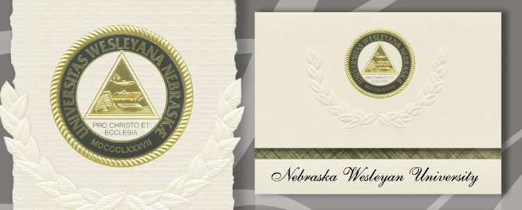 Nebraska Wesleyan University Graduation Announcements