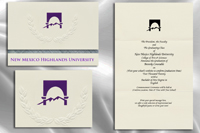 Platinum Style New Mexico Highlands University Graduation Announcement