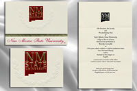 Platinum Style New Mexico State University Graduation Announcement