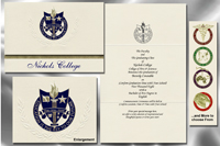 Platinum Style Nichols College Graduation Announcement
