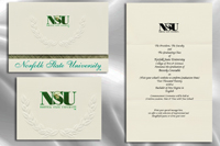 Platinum Style Norfolk State University Graduation Announcement