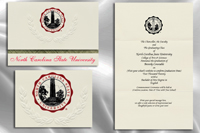 Platinum Style North Carolina State University Graduation Announcement