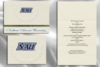Platinum Style Northern Arizona University Graduation Announcement