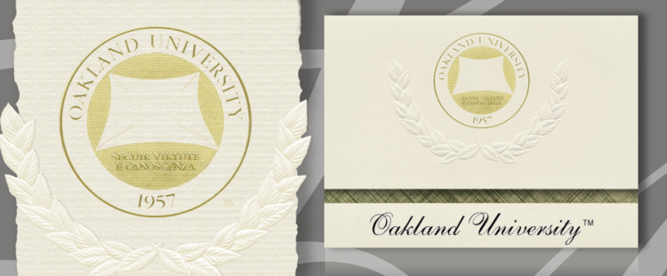 Oakland University Graduation Announcements
