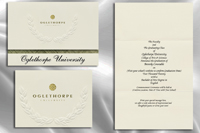 Platinum Style Oglethorpe University Graduation Announcement