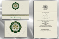 Platinum Ohio-University Graduation Announcements