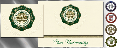 Platinum Ohio-University Graduation Cards