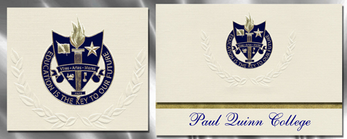 Paul Quinn College Graduation Announcements