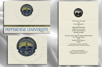 Platinum Style Pepperdine University Graduation Announcement