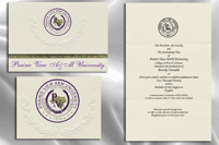 Platinum Style Prairie View A&M University Graduation Announcement