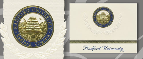 Platinum Radford University Graduation Cards