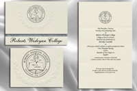 Platinum Style Roberts Wesleyan College Graduation Announcement