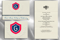 Platinum Style Saint Mary's College of California Graduation Announcement