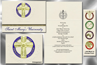 Platinum Style St. Mary's University Graduation Announcement