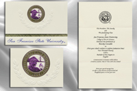 Platinum Style San Francisco State University Graduation Announcement