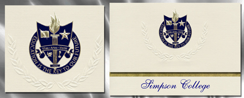 Simpson College Graduation Announcements