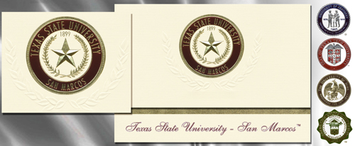 Texas State University Graduation Announcements