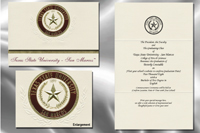 Platinum Style Texas State University-San Marcos Graduation Announcement