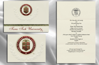 Platinum Style Texas Tech University Graduation Announcement