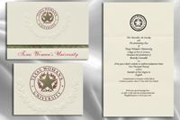 Platinum Style Texas Woman's University Graduation Announcement