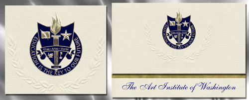 The Art Institute of Washington Graduation Announcements