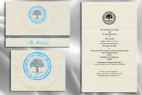 Platinum Style The Citadel Graduation Announcement