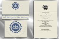 Platinum Style The Pennsylvania State University Graduation Announcement