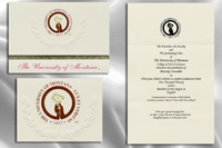 Platinum Style The University of Montana Graduation Announcement