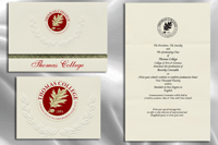 Platinum Style Thomas College Graduation Announcement