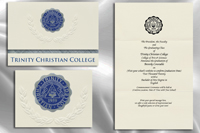 Platinum Style Trinity Christian College Graduation Announcement