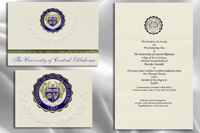 Platinum Style University of Central Oklahoma Graduation Announcement